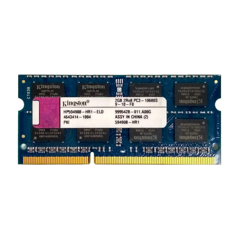 Kingston RAM 2GB 2Rx8 PC3-10600S 9-10-F0 HP594908-HR1-ELD DDR3 Speicher für Laptop