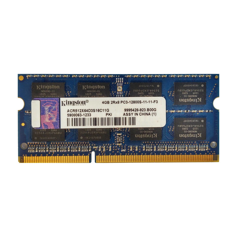 Kingston RAM 4GB 2Rx8 PC3-12800S-11-11-F3 SO-DIMM 9995428-923.B00G ACR512X64D3S16C11G DDR3 Speicher für Laptop